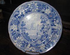 Staffordshire Transferware 'Belvoir Castle' Plate