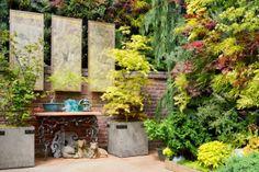 Florafelt Vertical Garden for the Decorator Showcase 2013 designed by Living Green. http://LivingGreen.com