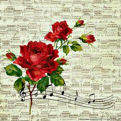 "Waterslide Decals 4pcs 2.5/""x3.5/""each Roses FLONZ 0683 Vintage Flowers"