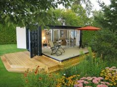 Recycled houses made using shipping containers | Designbuzz : Design ideas and concepts.