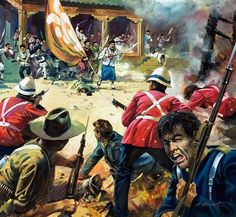 Defense of the British embassy in Peking, Boxer's Rebellion, China.