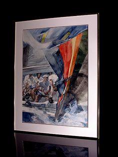 """willard bond art   The Johanson Collection: """"Rounding The Leeward Mark"""", by Willard Bond"""