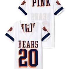 Victoria's Secret Pink Chicago Bears Jersey Chicago Bears Sequin bling jersey in size XS NWT. Check out my other VS Pink items. Bundle and receive 15% off. ☺️❤️ Victoria's Secret Tops