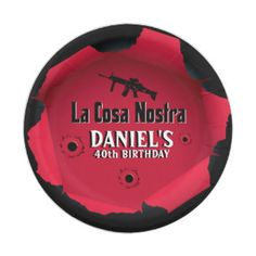 Mobster Birthday Paper Plate