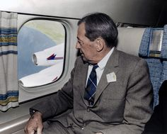 Mr Douglas on his first DC-8 ride.