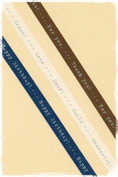 Masking tape Trio «Happy birthday – Thank you – Love Smile»