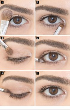 Best Eyeshadow Tutorials - Easy Eye Look - Easy Step by Step How To For Eye Shadow - Cool Makeup Tricks and Eye Makeup Tutorial With Instructions - Quick Ways to Do Smoky Eye, Natural Makeup, Looks for Day and Evening, Brown and Blue Eyes - Cool Ideas for Natural Eyeshadow, Brown Eyeshadow, Makeup For Brown Eyes, Natural Brown Eye Makeup, Simple Eye Makeup, Eye Makeup Tips, Makeup Ideas, Makeup Tricks, Makeup Palette