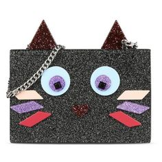 Karl Lagerfeld Plexi Choupette Minaudiere (4 300 UAH) ❤ liked on Polyvore featuring bags, handbags, clutches, black, karl lagerfeld, glitter purse, acrylic clutches, acrylic purse and acrylic handbag