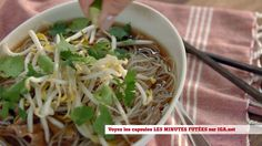 Minutes futées : Soupe pho au boeuf Pho, Mets, Spinach, Spaghetti, Pasta, Vegetables, Cooking, Ethnic Recipes, Sauce Salsa