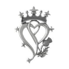 Scottish Thistle Symbol | Luckenbooth Thistle Scottish Pin at TreasuredFinds.com
