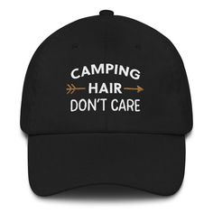 83459f84a2e8b Seriously great hat up on my Etsy shop! Camping Hair Don t Care Ladies