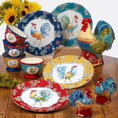 Ice Cream Bowl, Cream Bowls, Rooster Plates, Paint Cookies, Dinner Plate Sets, Dessert Bowls, Cookie Jars, Memorable Gifts, Earthenware