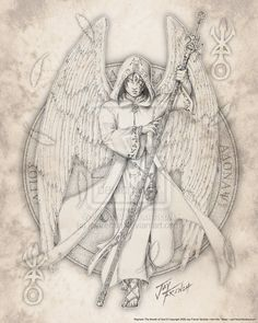 Archangel Raphael: Raphael is the Healer of God. His name comes from רפאל (Rephael). It can be pated to two - רפא - Rappa - Healing; אל - El - God.