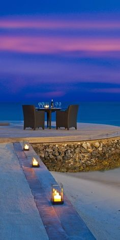 Romantic setting for two…Maldives