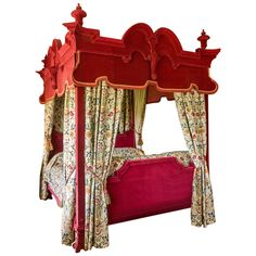 17th Century Style Four-Poster Bed   From a unique collection of antique and modern beds at https://www.1stdibs.com/furniture/more-furniture-collectibles/beds/