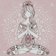 41 Ideas For Yoga Ilustration Art Namaste Art And Illustration, Yoga Meditation, Meditation Pictures, Meditation Corner, Meditation Quotes, Meditation Space, Yoga Inspiration, Reiki, Mandala Yoga