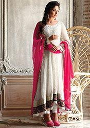 Off White Rakul Preet Anarkali Suit