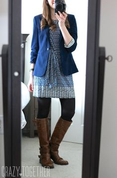 Entire outfit is so cute. Kerri Abstract Print Sheath Dress from Leota and Benson 3/4 Ruched Sleeve Blazer from 41Hawthorn - Love this Stitch Fix dress!