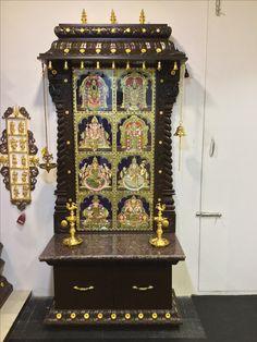 Pooja mandap with my Favorite God Temple Room, Home Temple, Wood Carving Art, Wood Art, Wood Carvings, Mandir Design, Pooja Mandir, Pooja Room Door Design, Temple Design