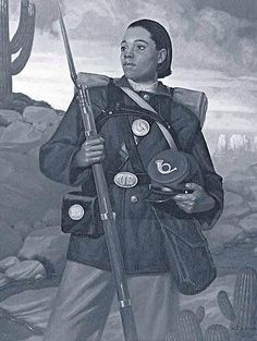 """Cathay WilliamsOnly Known Female Buffalo Soldier  On Nov. 15, 1866, she enlisted in the 38th Infantry, Company A as William Cathay, a man. She performed regular duties that others in the company did such as working garrison duty or guarding railroads. In an article about her in the St. Louis Times, Williams was described as """"tall and powerfully built."""""""