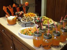 fall party - Mason jars are year round! :) LOVE IT!
