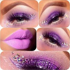 Purple eye makeup #gorgeous