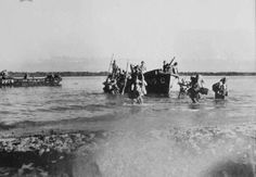 #Singapore #WWII — SARIMBUN BEACH LANDING: A party of Japanese troops land on Singapore, February 1942