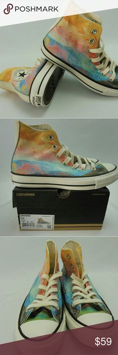 Converse, NWT, Women's Missoni Chuck Taylor Converse, NWT, Women's Missoni Chuck Taylor All Star Solar Orange CTAS HiTop fashion sneakers Limited Edition Converse Shoes Sneakers