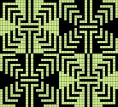 Design from Grid Paint. Using 2 color tones to create geometric design. Quilt inspiration. Tapestry Crochet inspiration.