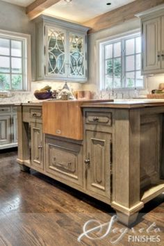 Kitchen Paint Finishes by Segreto Finishes - Fine Paint Finishes and Plasters - Plaster - Houston TX - Cabinets