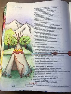 Isaiah 54:2. Enlarge the place of your tent. Sherrie Bronniman - Art Journaling: In My Bible