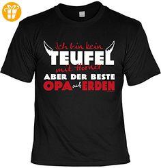Opa Sprüche Tshirt - cooles für Großvater : .. kein Teufel ... beste Opa auf Erden -- Geschenk T-Shirt Opa Vatertag Geburtstag Gr: 4XL (*Partner-Link)