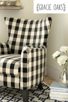 This Charming Fabric Armchair Lends A Touch Of Farmhouse Flair To Any  Seating Ensemble. Love
