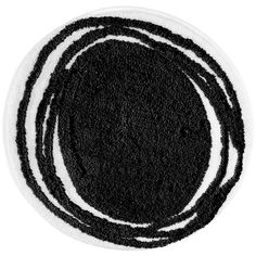 Interdesign Abstract 34Inch21Inch Rug Blackwhite Simple Black And White Bathroom Rugs Design Inspiration