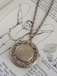 Locket  Necklace  Yes  Vintage Brass by chloesvintagejewelry, $38.00