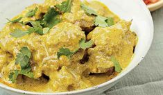 Curried Mutton with Green Chilli and Almonds - The Happy Foodie Biryani Curry Recipes, Biryani Recipe, Moong Dal Recipe, Budget Meals, Budget Recipes, Lentil Dishes, Almond Chicken, Masala Curry, Summer Dessert Recipes