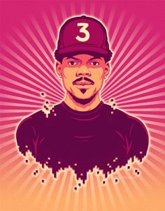 Chance the Rapper - Chris Whetzel Graphic Vector Celebrity Portrait Illustration Chance The Rapper, Celebrity Portraits, Portrait Illustration, Illustrators, Artist, Movie Posters, Image, Photographers, Designers