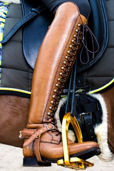 Classically beautiful Top Boot. #HorseClothing #HorseProperty