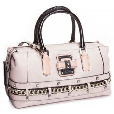 Guess Ellese Creamy Woman Handgbag with Chain and Studs Detail - New Arrival Guess Handbags-Campaign Categories - TopBuy.com.au