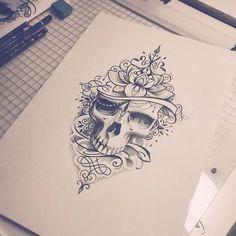 Viikonlopputöitä :) #skulltattoo #skull #dotwork #mandala #mandaladesing #mandalatattoo #hautecouture #lace #lacetattoo #tattoodesign #customtattoo #turkutattoo #soulskintattoo
