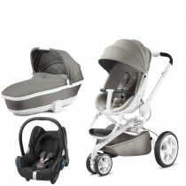 Quinny Moodd with Carrycot Grey Gravel and Cabriofix Digital Black