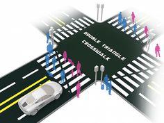 これぞデザインの力!人とぶつからない「横断歩道」が話題に   TABI LABO