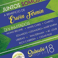 @Regrann from @uglytuna_mgta - ATENCIÓN MARGARITA  COMO DICEN POR AHÍ #JUNTOSSOMOSMÁS Y POR ESO TE HACEMOS ESTA INVITACIÓN DE PARTE DE LA FAMILIA @ELITEGROUPVE Y CASI TODOS LOS DJS DE LA ISLA  LA CITA ES YA!!! SÁBADO 18 DE MARZO EN #LaCasaDeFlorencio MEJOR CONOCIDO COMO @UGLYTUNA_MGTA   DESDE LAS 9:00 PM A BENEFICIO DE NUESTRO AMIGO ERWÍN FERMÍN QUE SUFRIÓ UN GRAVE ACCIDENTE Y NECESITA DE NUESTRA AYUDA LA ENTRADA SERÁ A MANERA DE COLABORACIÓN A PARTIR DE MIL BOLÍVARES  CON LA COLABORACIÓN DE…