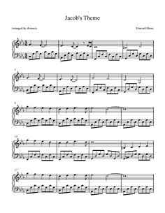 "This is my transcription of Jacob's Theme from the ""Twilight Saga: Eclipse"" movie soundtrack.  This song is composed by Howard Shore.   Plea..."