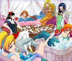 Disney Princess Anime - disney-princess fan art