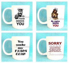 Funny ADULT RUDE Valentines Day mugs by CreativeIntervention