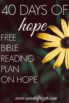 A FREE Bible Reading Plan on HOPE. Shine a light in your Darkness.