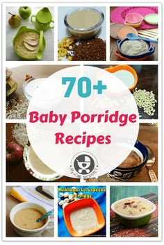 When you start weaning porridge is an important part of your baby's diet. Give your baby a good variety and nutrition with these 70 Baby Porridge Recipes! Baby Food Recipes Stage 1, Indian Baby Food Recipes, Kid Recipes, Food Baby, Cereal Recipes, Snack Recipes, Baby Puree Recipes, Pureed Food Recipes, Healthy Recipes