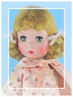 "c.1949 Vintage Madame Alexander 18"" Strung Maggie In Adorable Rare PJ Set! #MadameAlexander #DollswithClothingAccessories"