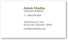Forever Living Business Card W Photo
